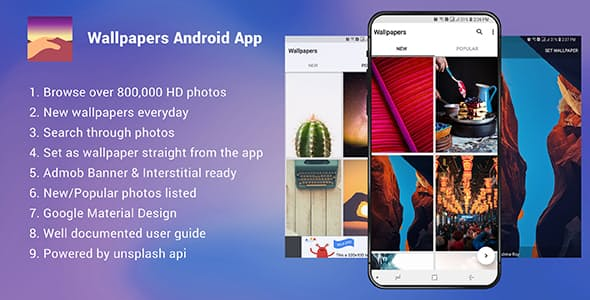 Wallpapers Android App – Admob Ready