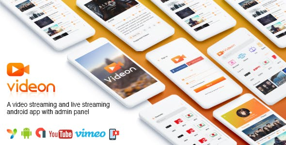 Videon – A video streaming android app with admin panel