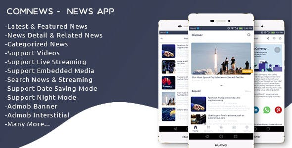 ComNews – Android News App with Admin Panel